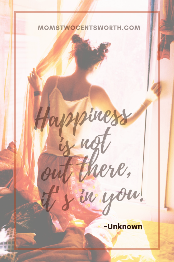 Happiness is not out there, it's in you. Plus 50 more motivational morning quotes to start your day on a positive note! #quoteoftheday #dailyquotes #pinterestquotes #lifequotes #happy