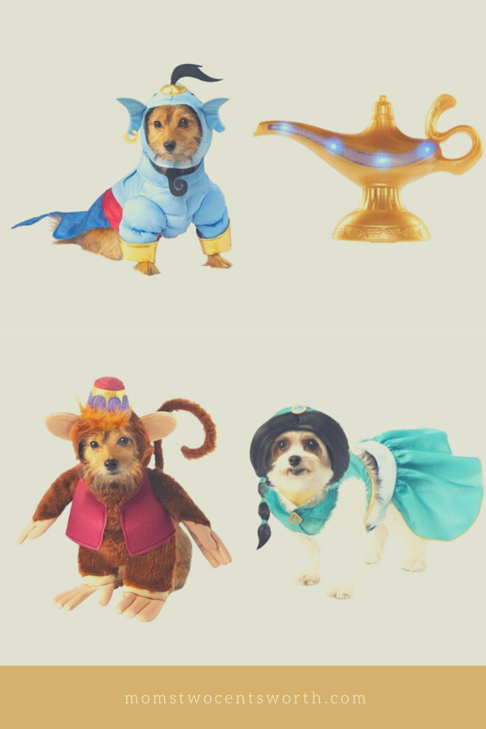 7 Disney family-themed costume ideas that will add some magic to your Halloween celebration! Arabian nights never looked so good! Which Aladdin character will you dress up as?  #adultcostumes #childrencostumes #petcostumes