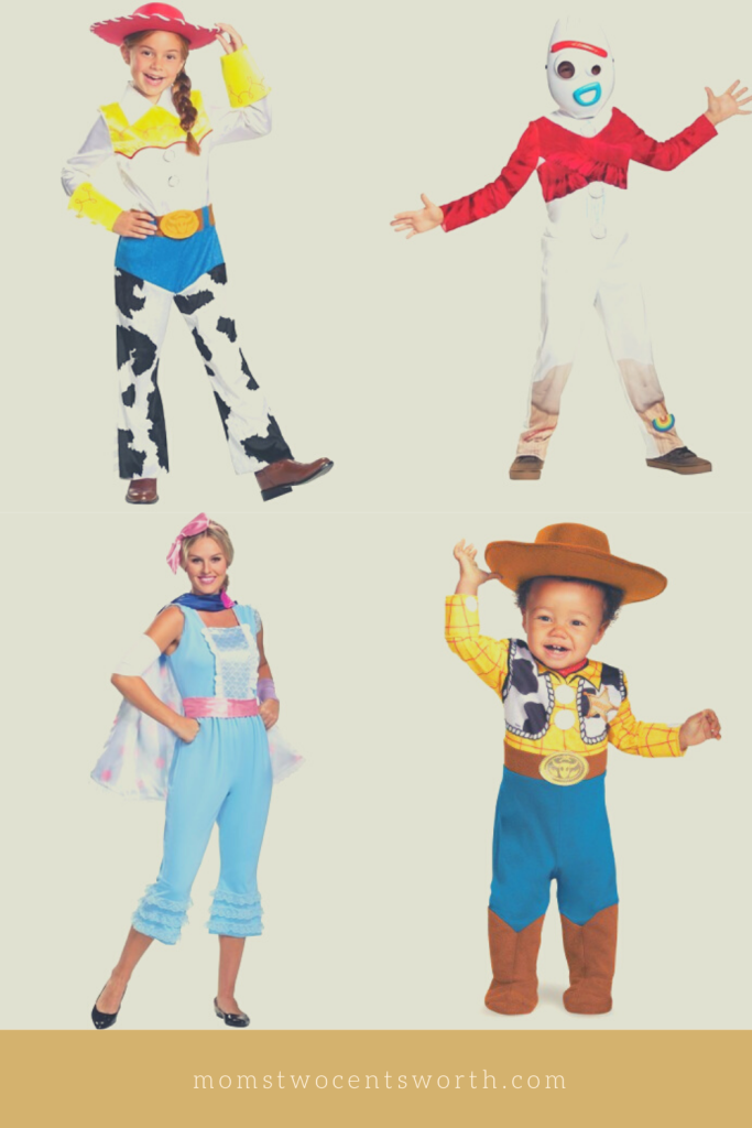 7 Disney family-themed costume ideas that will add some magic to your Halloween celebration! Go to infinity and beyond dressed as your favorite Toy Story characters!  #adultcostumes #childrencostumes #petcostumes