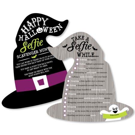 Halloween witch selfie scavenger hunt event