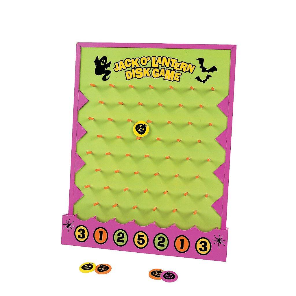 Halloween Jack-o-Lantern disk game