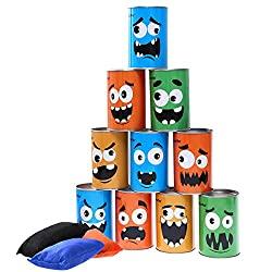 Halloween bean bag toss game for family fun
