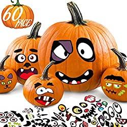Halloween pumpkin sticker decor