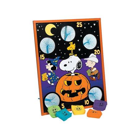 Snoopy bean bag toss Halloween game