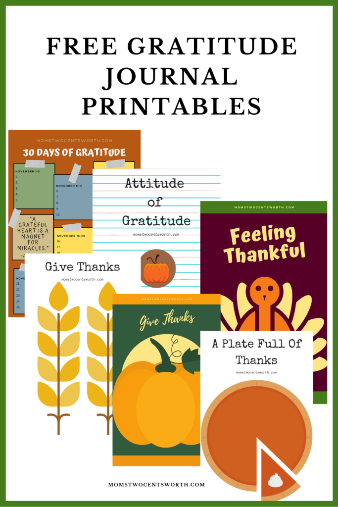 Giving thanks has never been easier thanks to the Mom's FREE downloadable gratitude worksheet bundle! Make expressing gratitude a month-long family affair or a Thanksgiving day activity. Get your FREE gratitude printables here!