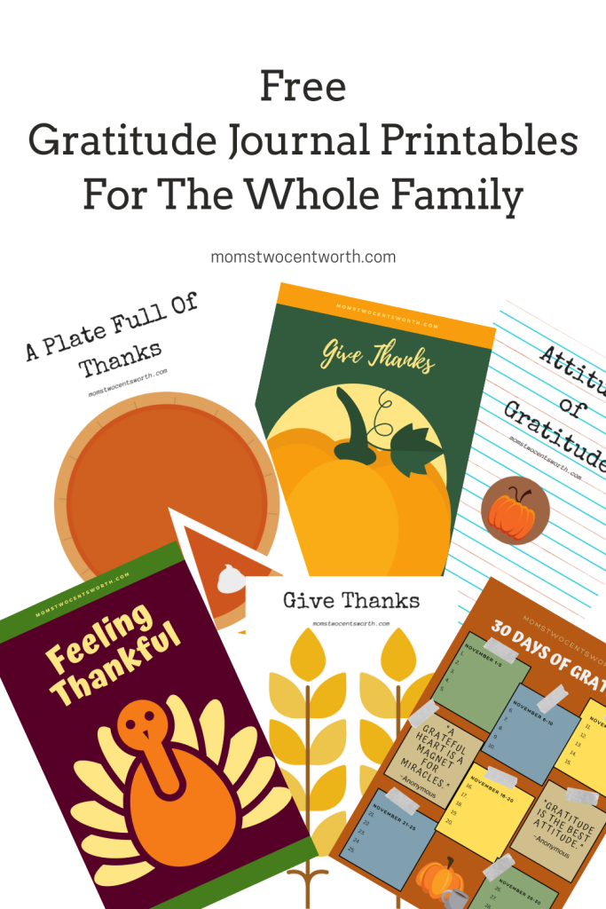 Do you have an attitude of gratitude? The moms want to help you and your family get your gratitude on with a FREE downloadable gratitude worksheet bundle! Six different sheets to choose from! Download yours today!