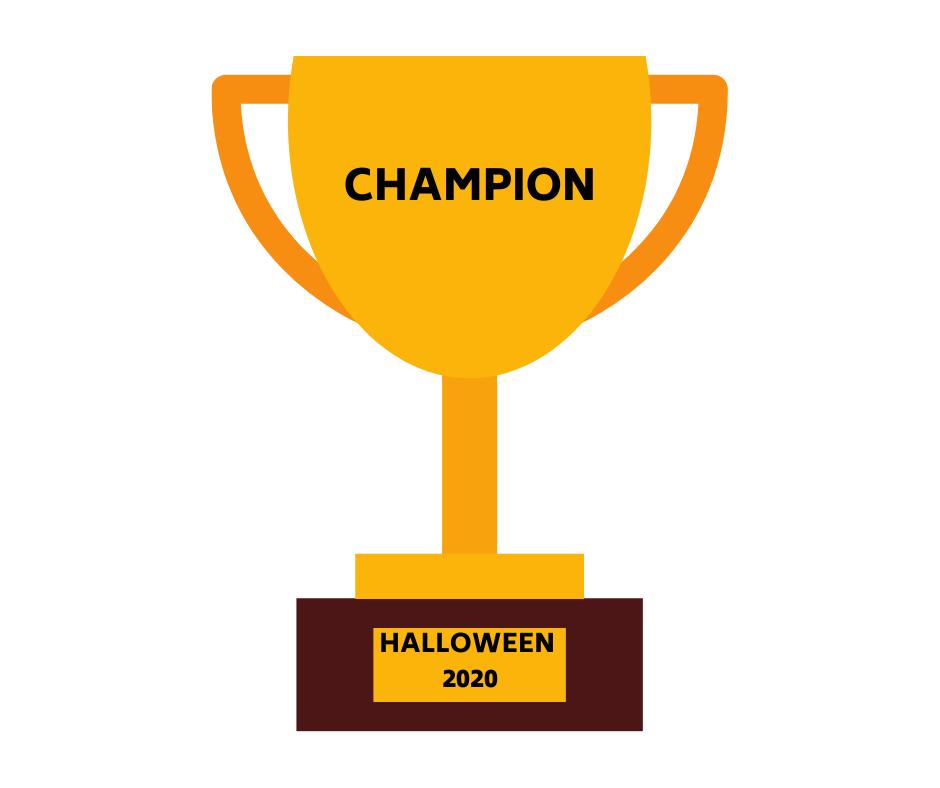Halloween scavenger hunt award