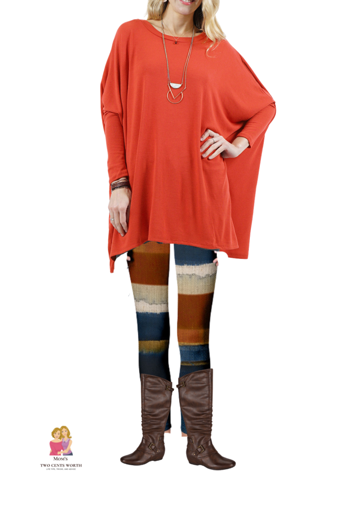 This plus size fall ensemble brings together the earthy tones of orange and blue, perfect for any outing, including a fireside chat with friends! Heads will turn no matter where the wind blows you!